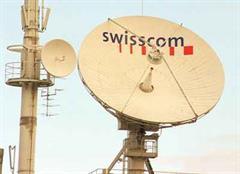 Swisscom Antennen und Schüssel in Basel.